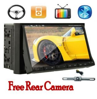 2Din 7Car Stereo DVD Radio TV Player Rear View Camera