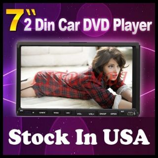 In Dash Head Car Stereo DVD Player 7 Touch Screen CD Radio USB SD Mic