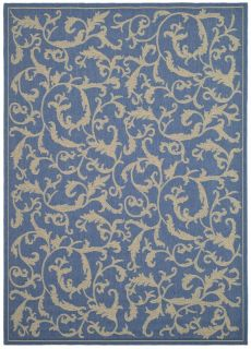 Floral Indoor Outdoor Area Rug New Carpet 4 5 x 7 Blue Woven