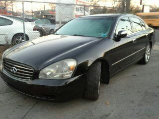 2002 Infiniti Q45 Black Leather Wood Trim