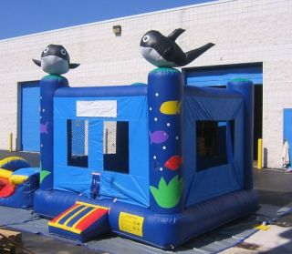 Inflatable Bounce House Slide Moonwalk SeaWorld Jumper 15X15