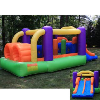 Obstacle Speed Racer Inflatable Bounce House Used