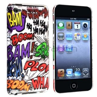 Haha Hard Case Cover Anti Glare Screen Protector for iPod Touch 4G 4th
