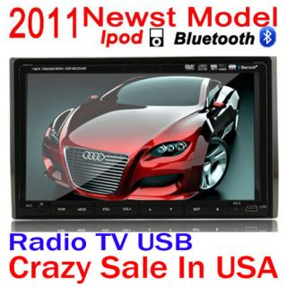 in Dash Car Stereo DVD CD  Player Monitor Am FM Bluetooth iPod
