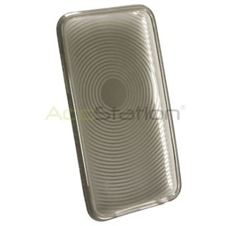 For iPod Touch 2 3 2nd 3rd Gen Clear Smoke Circle TPU Case Anti Glare