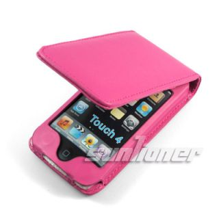 Leather Case for iPod Touch 4 4th Gen Screen Guard HP