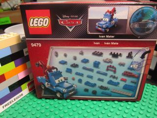 Lego 9479 Disney Pixar Cars Ivan Mater Blue Tow Truck Vehicle BNIB