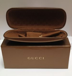 Gucci Italian Made Gold Eyeglass Sunglass Hard Case Gift Box Set New