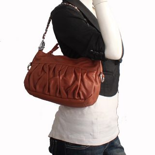 Genuine Italian Leather Brown Handbags, Purse, Hobo Bag, Satchel, Tote