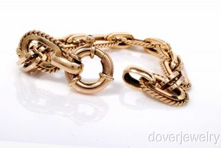 Italy 14k Gold Thick Chain Link Heavy Bracelet 30 6 Grams