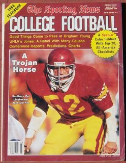 SPORTING NEWS COLLEGE FOOTBALL YEARBOOK USCS JACK DEL RIO ON THE COVER