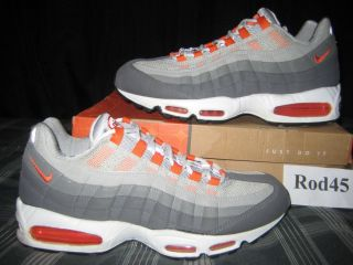Nike Air Max 95 White Orange Blaze Grey Graphite 11 VNDS 2005 90