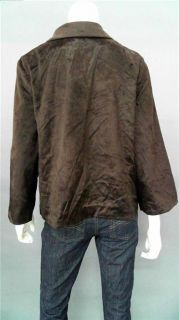 Jaclyn Smith Ladies Womens XL Faux Fur Short Basic Button Jacket Brown