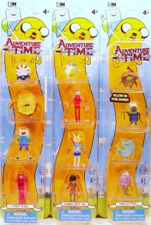 JAZWARES Adventure Time 4 pack 3pc Set Fionna & Cake, Candy People