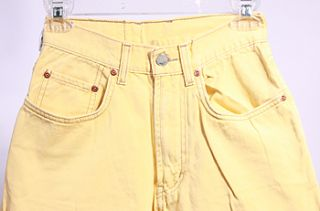 Womens Lucky Brand 24 Relaxed Fit Yellow Jeans Sz 24X30