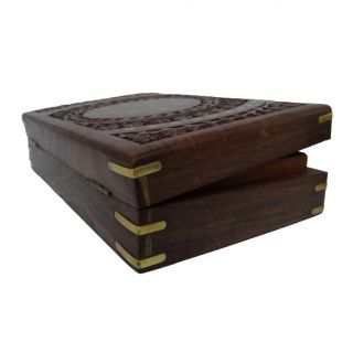 Vintage Style Medium Wooden Jewelry Box Storage Wood Trunk MWB7