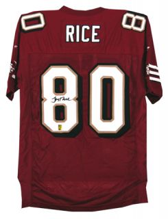 Jerry Rice Autographed SF 49ers Reebok Jersey UDA