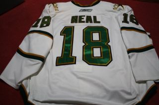 James Neal 1011 Dallas Stars White Set 1 Game Worn Hockey Jersey