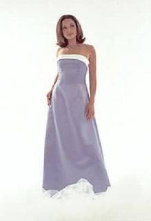 Jessica McClintock Blue Satin Formal Gown Dress 4