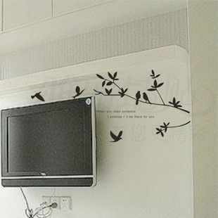 Nature Tree Animal Bird Bedroom Decal Decor Art Room Wall Sticker
