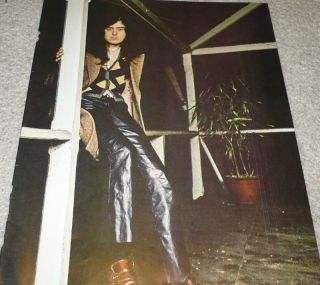 Jimmy Page Pinup clipping 70s in Leather Pants LED Zeppelin