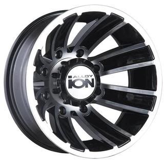 ion alloy 166 wheels matte black w machined spokes clear coated