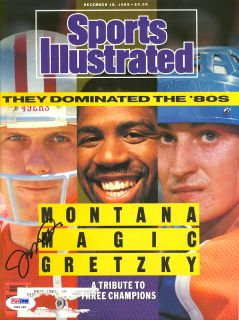Joe Montana Signed Autographed 1989 Sports Illustrated PSA DNA P80198