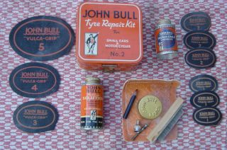 JOHN BULL TYRE REPAIR KIT for SMALL CARS MOTOR CYCLES No 2 TIMEWARP