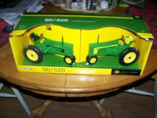 JOHN DEERE TOY TRACTOR 50 & 520 JOHN DEERE TRACTOR MINT IN PACKAGE {2