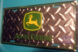 John Deere Car Truck License Plate Farm Farmer Garden Antique Tractor