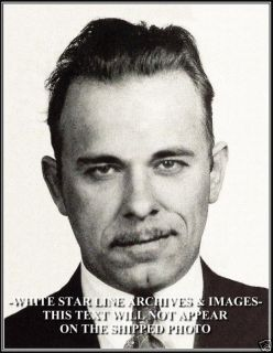 Photo John Dillinger Public Enemy 1 Mug Shot 1931