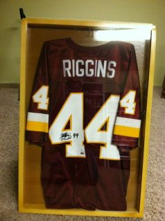 John Riggins NFL Autographed Jersey GAI Authentic with Shadow Box Display Case