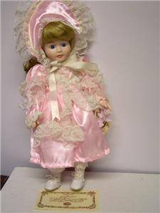 "Bisque Porcelain Doll Joiner Co Laura 16"" COA"