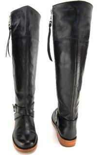 Coach Jolene Black Knee Boots Heels Shoes Womens Size 7