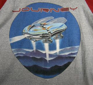 Journey 1982 Escape Tour Shirt Jersey Double Sided Stanley Mouse