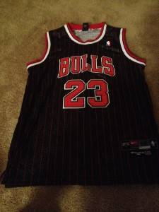 Michael Jordan Signed Chicago Bulls Jersey Champions GAI Authenticated