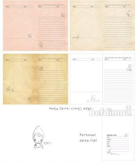 New Korea Creative Stationery Cute Journal Planner Diary Daily Planner Book BE0D