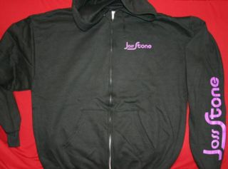 Joss Stone Zipper Hoodie Album Cover Black Size Medium