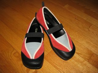 Kalso Earth Intrigue red Mary Janes shoes 7 flats loafers slips ons