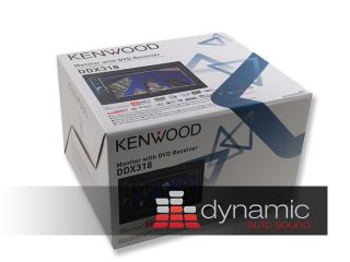 Kenwood DDX 318 Car Stereo 2 DIN DVD CD Player 6 1 LCD