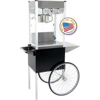 Commercial Popcorn Machine Popper + Cart   Professional Kettle Maker