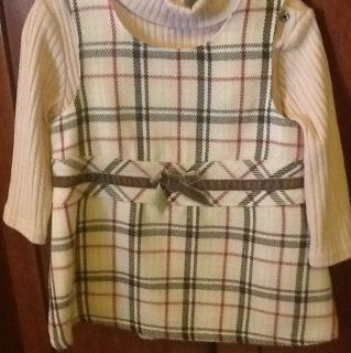 New 6 9 M Koala Kid Baby Girl 2 Piece Dress Set Burberry Look