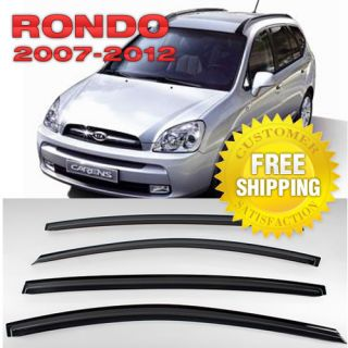 Vent Visors Rain Guards Sun Shield Fit Kia Rondo 2007 2012