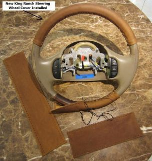 01 03 Ford F150 SuperCrew King Ranch Leather Steering Wheel Cover 2