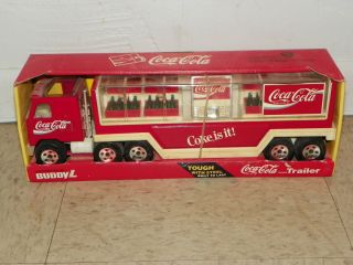 Coca Cola Buddy L Truck and Trailer
