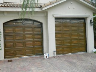 Painting in s Florida Fake Wood Garage Doors Kitchen Cabinets
