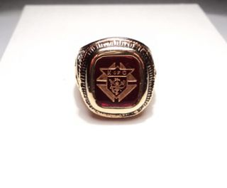 Knights of Columbus Gold Plated Ring Mens Size 11 A120