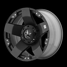 17 inch KMC XD SERIES ROCKSTAR 775 WHEELS RIMS 17x9 BLACK 5x5 5x127