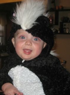 KOALA KIDS SKUNK Halloween Infant Baby Costume 12 MONTHS PLUSH 12m