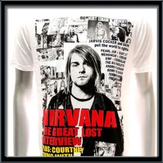 Sz M Nirvana Kurt Cobain T shirt Rock Tour 1967 1994 Concert Hard